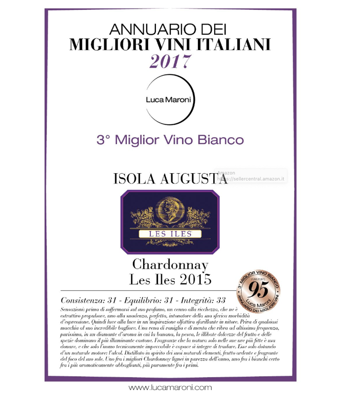 Les Iles Chardonnay  - 3° Miglior Vino Bianco d'Italia