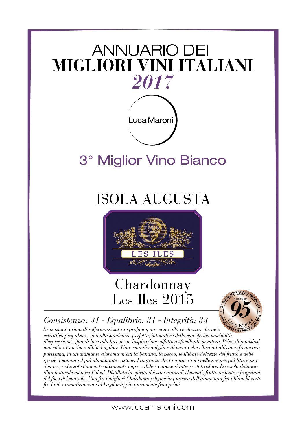 Les Iles Chardonnay  - 3rd Best Italian White Wine