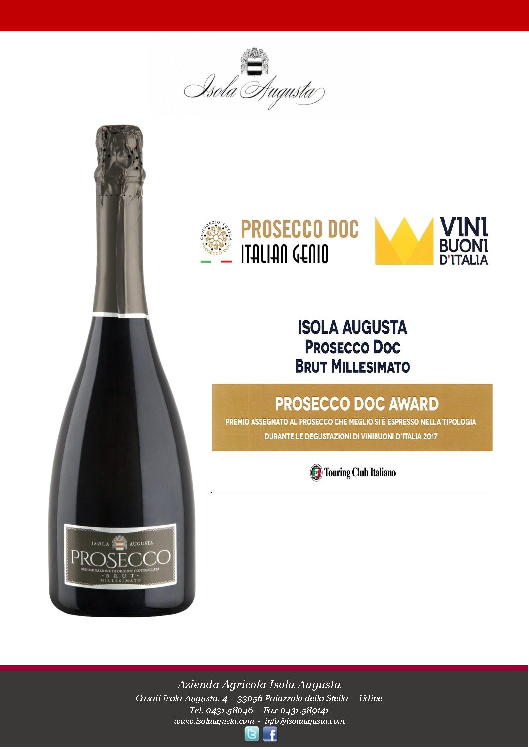 Prosecco Doc Award 2017