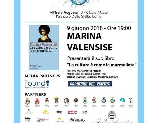 """Marina Velnsise presenta """"La cultura è come la marmellata"""""""