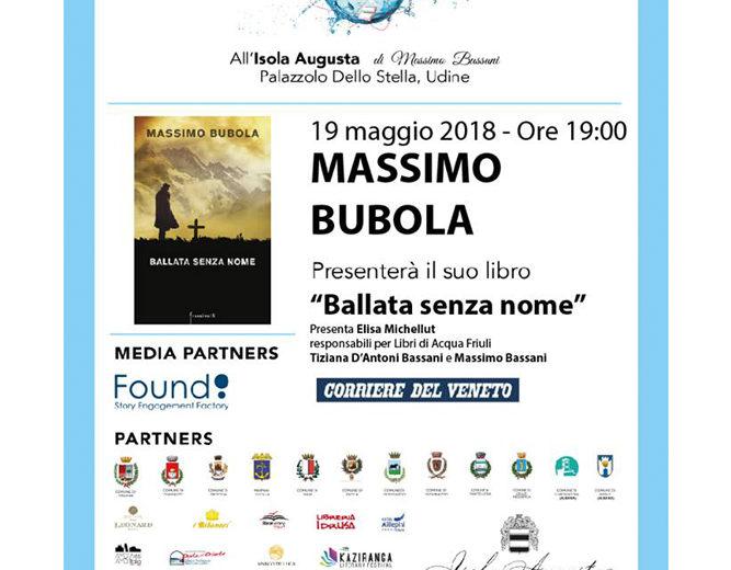 """Massimo Bubola presenta """"Ballata senza nome"""""""