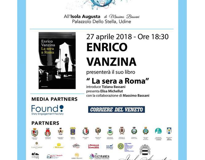 """Enrico Vanzina presenta il suo libro """"La sera a Roma"""""""