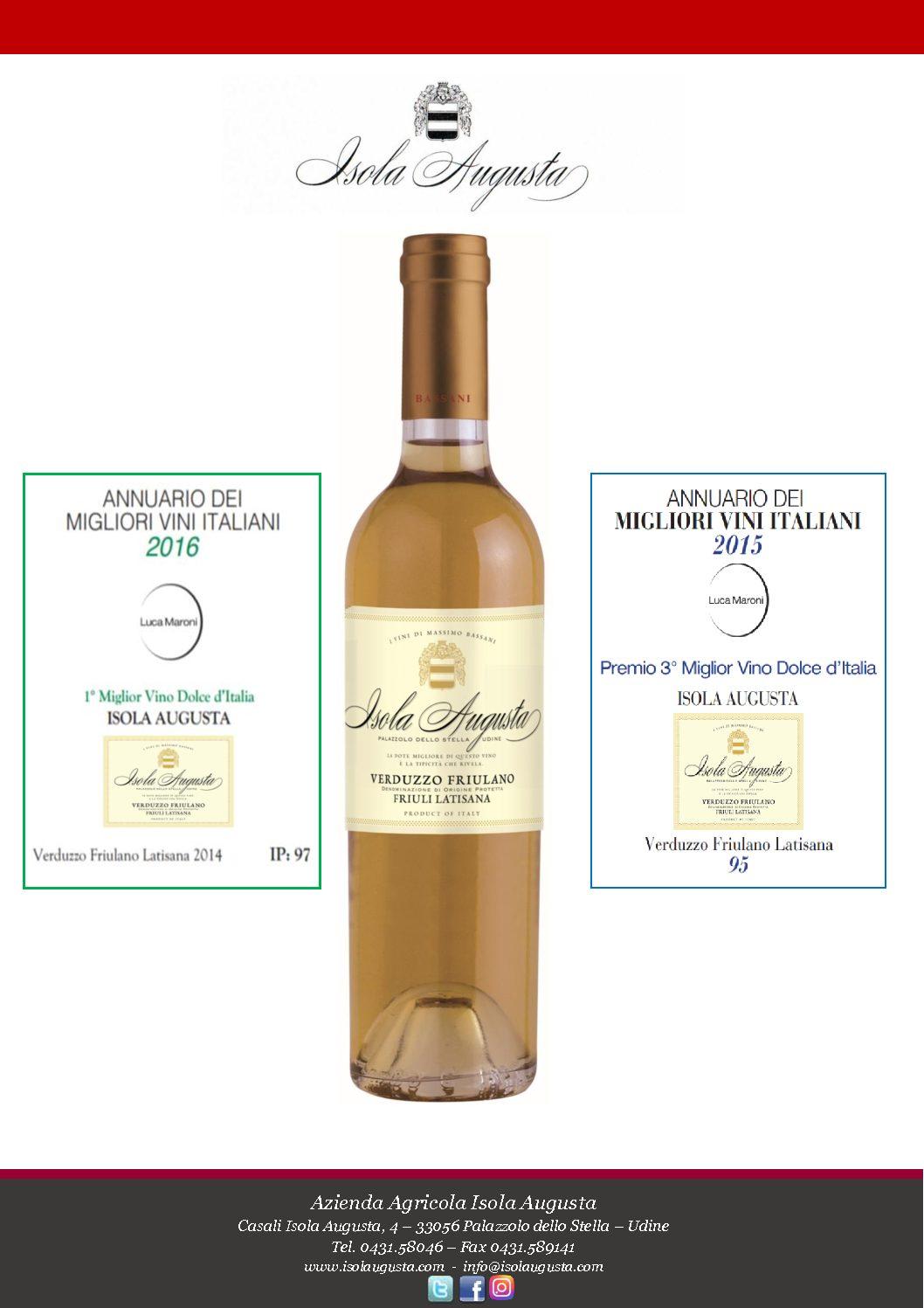 "Verduzzo Friulano - Annuary "" The Best Sweet Italian Wines"""